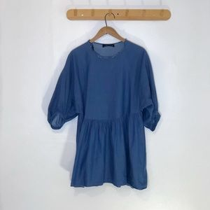 Denim Ruffled Babydoll Top/Dress